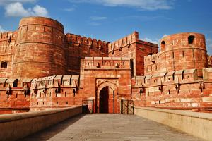 Tourists at Entrance to Agra Fort, Agra, Uttar Pradesh, India by jackmicro