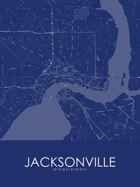 Jacksonville, United States of America Blue Map