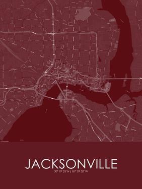 Jacksonville, United States of America Red Map