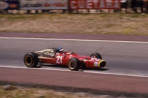 Jacky Ickx in a Ferrari, Spanish Grand Prix, Jarama, Madrid, 1968