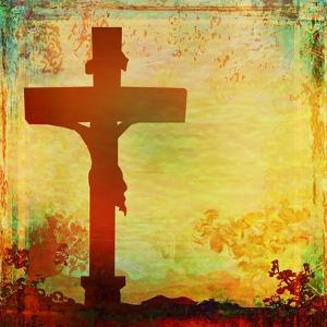 Jesus Christ Crucified, Grunge by JackyBrown