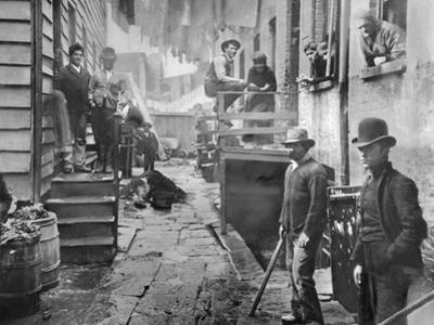 Men Gathered in Bandit's Roost by Jacob August Riis