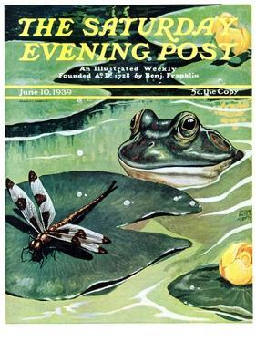"""Dinnertime!,"" Saturday Evening Post Cover, June 10, 1939 by Jacob Bates Abbott"