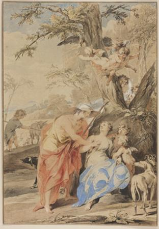 Jupiter and Mnemosyne, 1733 by Jacob De Wit