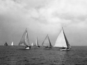 View of Oyster Dredgers Sailing across the Bay by Jacob Gayer