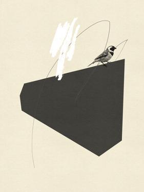 Steel Sequin with Bird III by Jacob Green