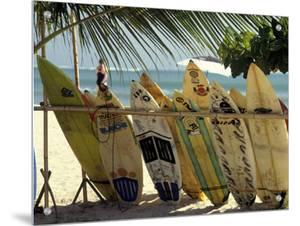 Surfboards on Tropical Beach, Bali by Jacob Halaska