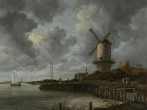 Windmill at Wijk Bij Duurstede by Jacob Isaacksz Van Ruisdael