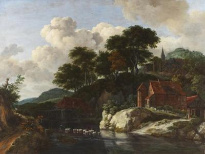 Hilly Landscape with a Watermill, c.1670