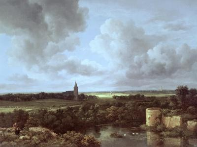 Landscape with Ruined Castle and Church, c.1665-70