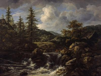 wooded Landscape with Waterfall, c.1665-1670