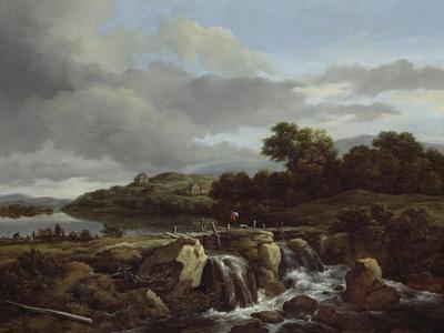 Landscape with Cascade, 1670s