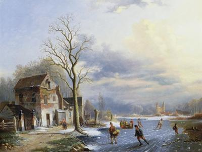 Skaters on the Lake