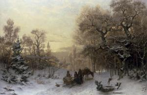 The Edge of the Forest, 1877 by Jacob Johan Silven