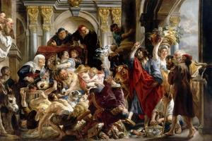 Christ Driving the Money Changers from the Temple by Jacob Jordaens