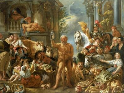 Diogenes Searching For an Honest Man, c.1650-55 by Jacob Jordaens