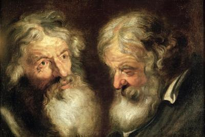 Heads of Two Old Men by Jacob Jordaens