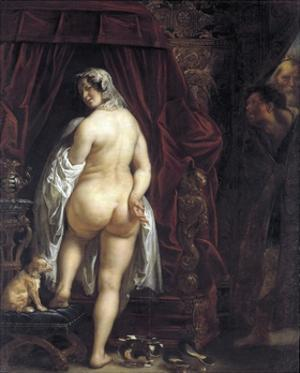 King Candaules of Lydia Showing His Wife to Gyges by Jacob Jordaens