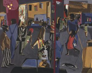 Fulton and Nostrand, 1958 by Jacob Lawrence