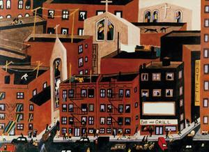 Harlem, 1942 by Jacob Lawrence
