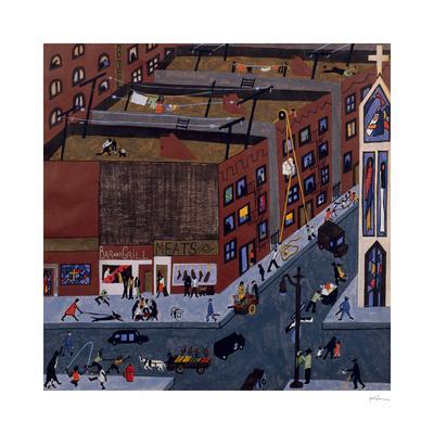 Harlem Street Scene, 1942