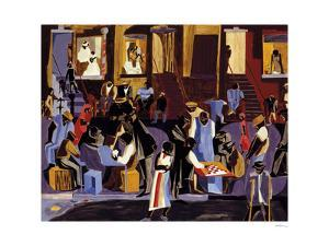 Street Shadows, 1959 by Jacob Lawrence