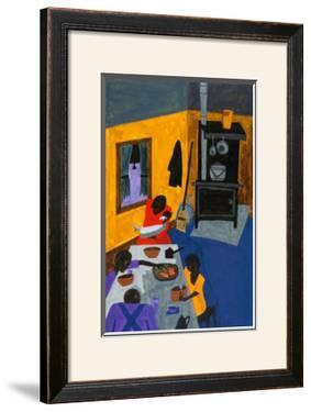 This Is a Family Living in Harlem, 1943 by Jacob Lawrence