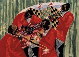 Village Quartet, 1954 by Jacob Lawrence