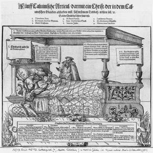 John Calvin on his Death Bed by Jacob Lederlein