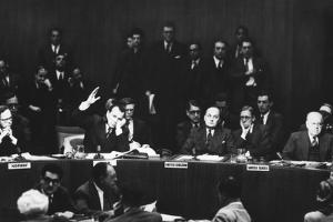 Jacob Malik, Soviet Delegate on Casts His Veto