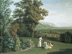 English Garden at Palace of Caserta by Jacob Philipp Hackert