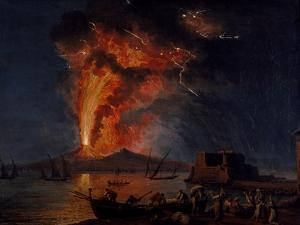 Eruption of Vesuvius, 1779, 1737-1807 by Jacob Philipp Hackert