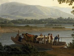 Ferry on Sele by Jacob Philipp Hackert