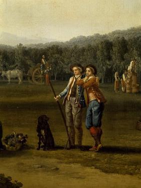 Harvest in Carditello, Detail, 1791 by Jacob Philipp Hackert