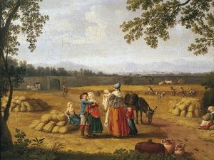 Royal Family Reaping on Carditello Estate by Jacob Philipp Hackert