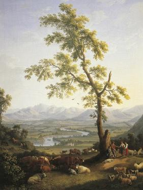 Spring, View of Volturno and Matese by Jacob Philipp Hackert