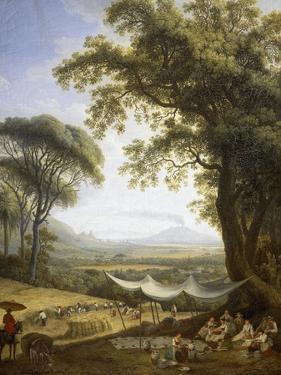 Summer, Harvest on Caserta Plain by Jacob Philipp Hackert