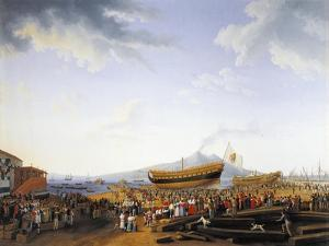 The Castellammare Di Stabia Shipyard by Jacob Philipp Hackert