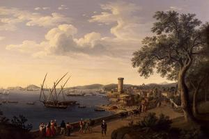The Port of Gaeta, the Pier and the Fortress, 1790 by Jacob Philipp Hackert