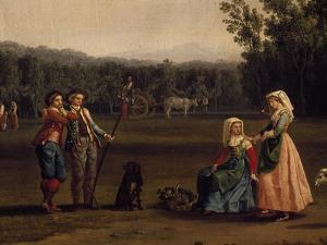 Trip to Caserta Royal Estates by Jacob Philipp Hackert