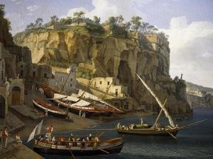 View of Small Marina at Sorrento by Jacob Philipp Hackert