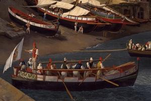 View of the Small Marina at Sorrento, Detail, 1794 by Jacob Philipp Hackert