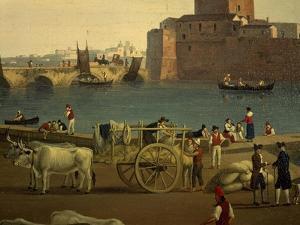 View of Trani Port by Jacob Philipp Hackert