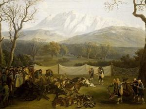Winter: Hunting in Persano Reserve by Jacob Philipp Hackert