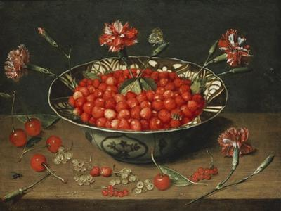 Strawberries in a Bowl, about 1630 by Jacob Van Hulsdonck
