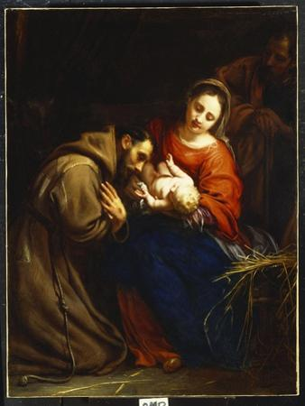 The Holy Family with St. Francis, 1665
