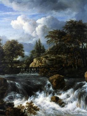 A Waterfall in a Rocky Landscape, 1660-70 by Jacob van Ruisdael