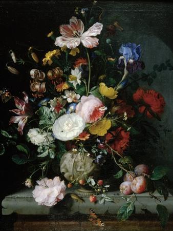 Stilleben Mit Blumenstrauss in Einer Terrakottavase, 1677