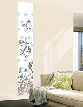 Jacobean Damask Panel II (Blue and Brown) Wall Decal