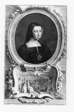 Portrait of Catherine of Aragon, 1743 by Jacobus Houbracken